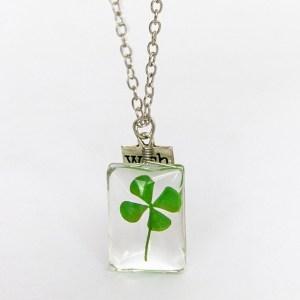 Four Leaf Clover Necklace - Four Leaf Clover Pendant - 4 Leaf Clover Necklace - 4 Leaf Clover Pendant - Lucky Four Leaf Clover Necklace
