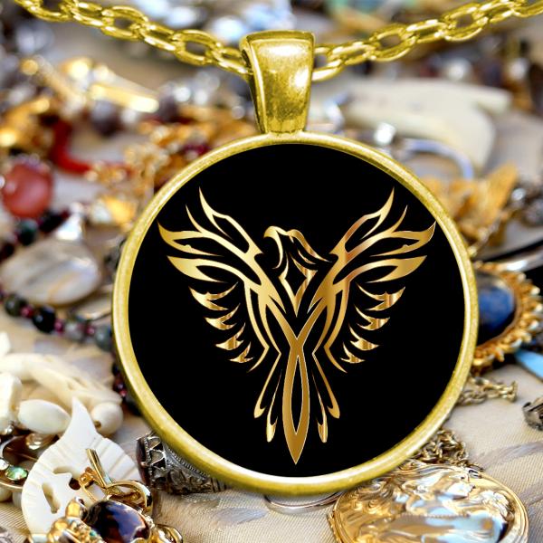 Phoenix Necklace - Phoenix Pendant - Firebird Necklace -Phoenix Rising Necklace - Best Gifts Gallery
