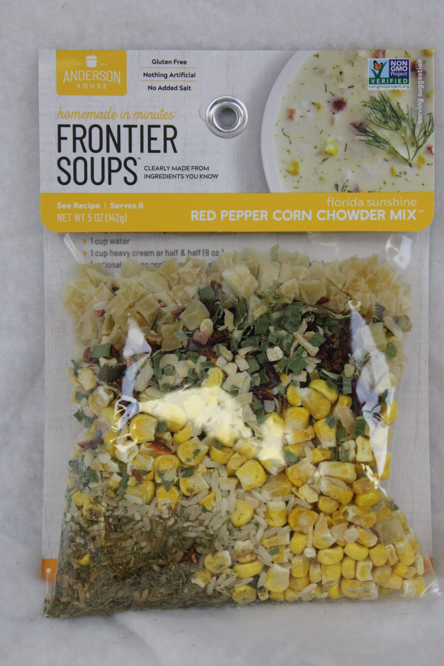 red pepper corn chowder soup mix product image