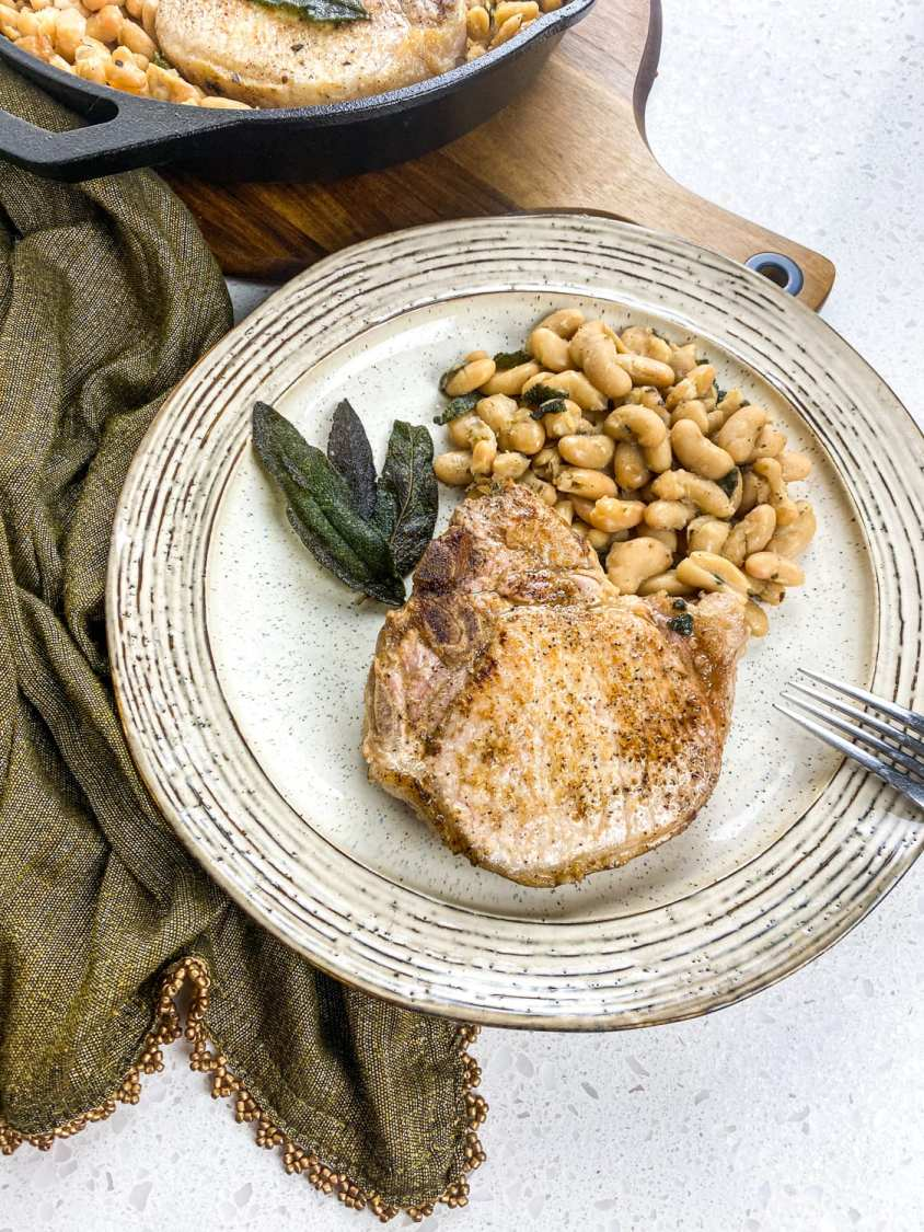 Country Pork Chop Recipe image on a plate