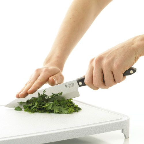 Using a Knife and a Chopping Board