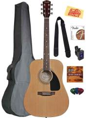 Fender Acoustic Guitar Bundle with Gig Bag