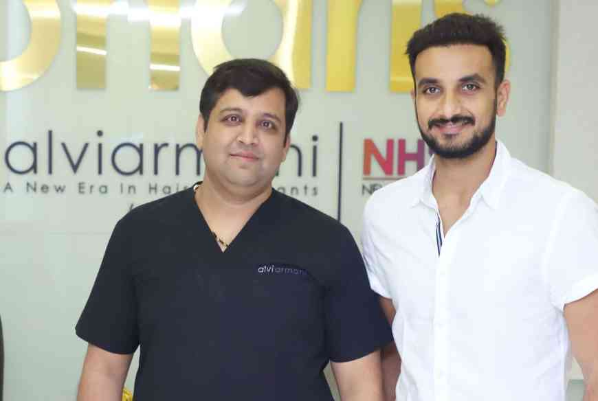 Cricketer Harshal Patel Hair Transplant, DareDevil Harshal patel Hair Transplant, Dr.Arihant Surana