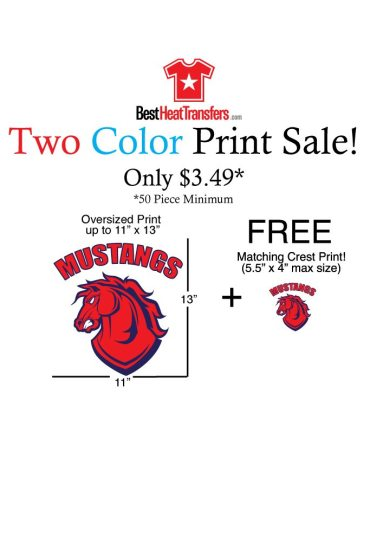 2 color heat transfers