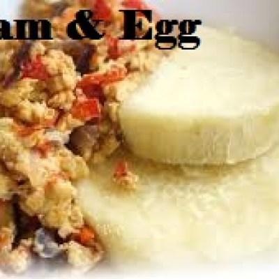 Yam and Egg Sauce