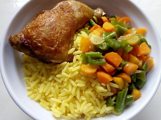 Chicken and Yellow Rice