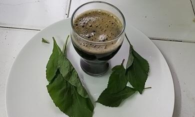Bitter Leaf And Scent Leaf Juice