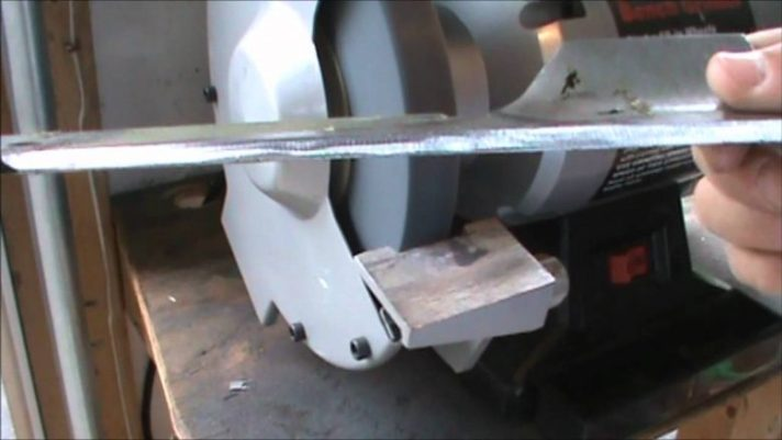 Using Bench Grinder To Sharpen Mower Blade | Best Home Gear