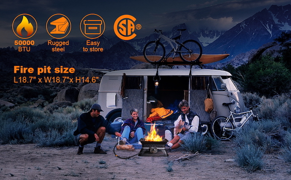 Tacklife Portable Fire Pit   Best Home Gear