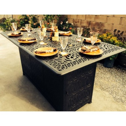 dining table with fire pit - best home gear