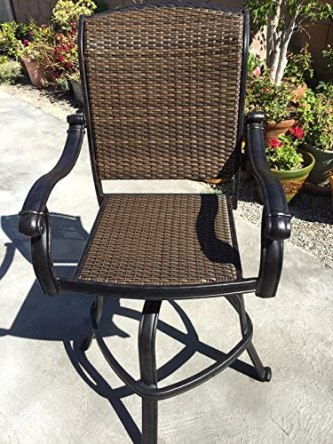 Wicker Resin Bar Height Chair - Best Home Gear