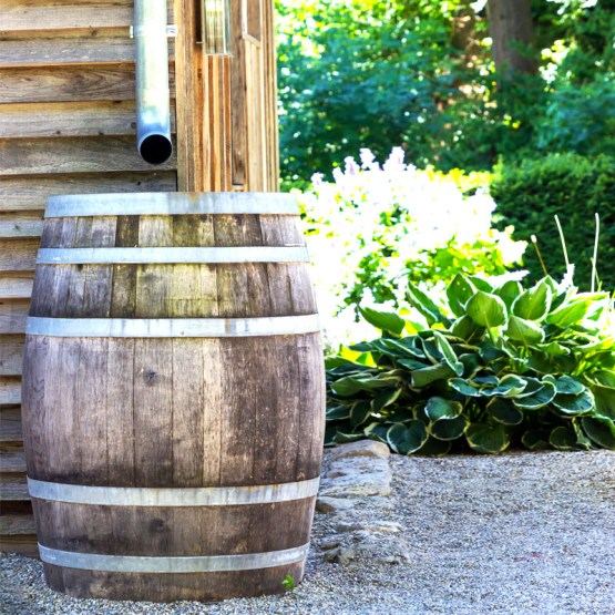 wooden rain barrel - best home gear