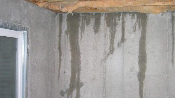 leaks in basement walls