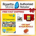 NEW Rosetta Stone FULL COURSE LIFETIME DOWNLOAD DUTCH DICTIONARY GIFT BUNDLE