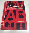 Saxon Algebra 2 Student Textbook  Second Edition Hardcover