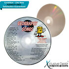 Audio Memory Geography Songs for Teaching 2004 CD Scratch Free Disc XD23