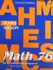 SAXON MATH 76 SECOND EDITION TEACHER S EDITION Hardcover BRAND NEW