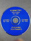 Teaching Textbooks Geometry 10 REPLACEMENT CD Solutions for Lessons 88 102 ONLY