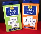 Lot of 2 Educational 0 12 Flash Cards Addition  Division