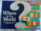Vintage 1986 Where in the World Geography Game AristoPlay Mint condition NEW