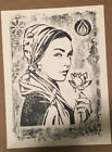 2017 Shepard Fairey NATURAL SPRINGS Damaged Stencil Series Print Obey SIGNED