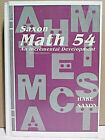 Saxon Math 54 An Incremental Development 1995 2nd edition PLUS instructional CD