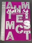 Saxon Math 54 STUDENT TEXT Second Edition Hardcover POOR Condition