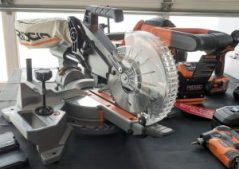 Ridgid Miter Saw and a 5Ah Battery Pack