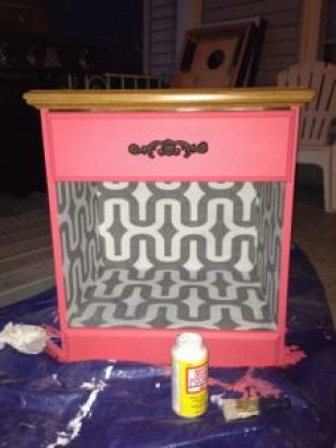 CORAL NIGHTSTAND NESTLING INTRICATE TEXTURES