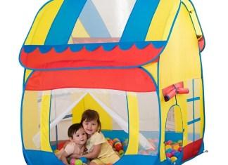 Kids Big Playhut Outdoor Indoor Fun Play Tent House Pop Hut Play Pit Balls pool