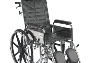 Drive Medical Sentra Reclining Wheelchair with Various Arm Styles and Elevating Legrest