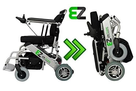 Best Electric Wheelchair by The EZ Lite Cruiser Light Weight Folding Power Wheelchair