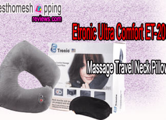 Etronic Ultra Comfort Massage Travel Neck Pillow ET-200