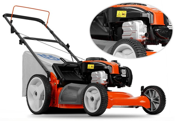 Husqvarna 5521P 21-Inch 140cc Push Lawn Mower With High Rear Wheels