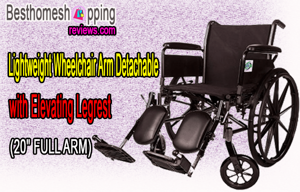 Lightweight Wheelchair Arm Detachable with Elevating Legrest