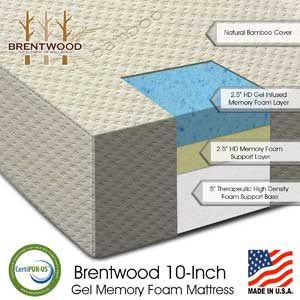 Brentwood Home Bamboo Gel 10 Memory Foam Mattress Review
