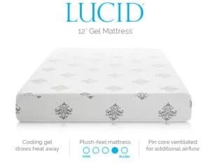 LUCID 12 Inch Gel Memory Foam Mattress Review