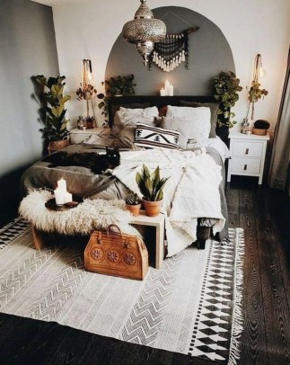 Beautiful Boho Rustic And Cozy Bedrooms16