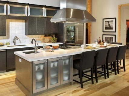 Fabulous Kitchen Island Decorating Ideas To Become A Comfortable Cooking Place For You15