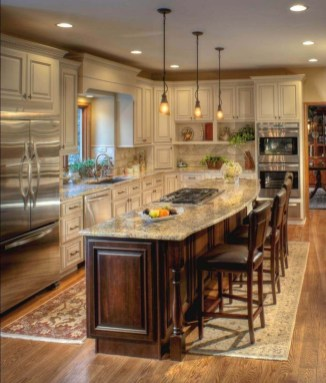 Fabulous Kitchen Island Decorating Ideas To Become A Comfortable Cooking Place For You38