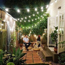 Amazing Backyard Decoration Ideas For Comfortable Your Outdoor29