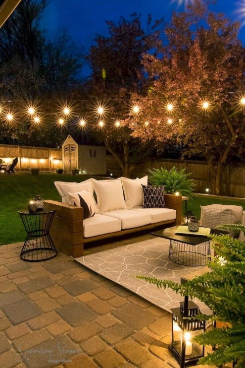 Amazing Backyard Decoration Ideas For Comfortable Your Outdoor49