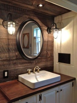 Amazing Industrial Bathroom Decorating Ideas For Your Inspiration35