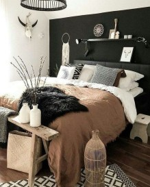 Chic And Warm Minimalist Bedroom Interior Ideas For Feel Comfort14