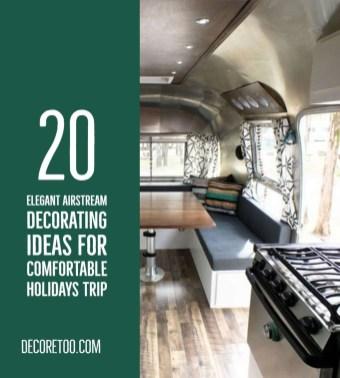 Elegant Airstream Decorating Ideas For Comfortable Holidays Trip43
