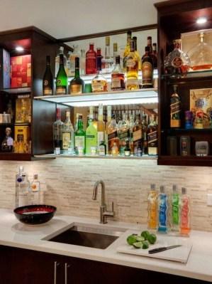 Gorgeous Minibar Designs Ideas For Your Kitchen34