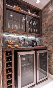 Gorgeous Minibar Designs Ideas For Your Kitchen36