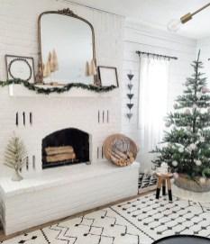 Marvelous Rustic Christmas Fireplace Mantel Decorating Ideas04