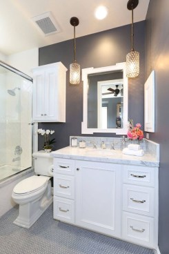Best Gray And White Bathroom Ideas For34