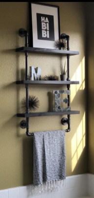 Industrial Bathroom Shelves Design Ideas07